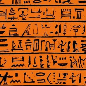 Hieroglyphics on Orange // Small