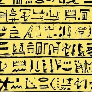 Hieroglyphics on Yellow // Small