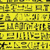 Egyptian Heiroglyphics I // Yellow // Small