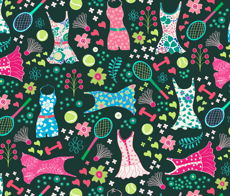 Fitness fabric by jill_o_connor on Spoonflower - custom fabric