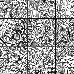Zentangle Squares Black
