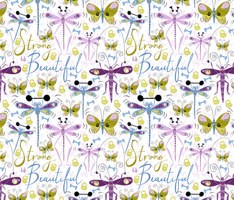 Buff Bugs... Strong is Beautiful! fabric by pattyryboltdesigns on Spoonflower - custom fabric