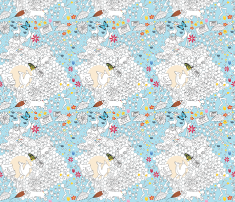 Full Moon mash up fabric by colour_angel_by_kv on Spoonflower - custom fabric