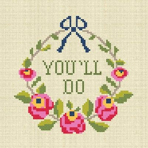 You'll Do (8 x 8 panel)