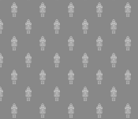 Nutcracker_Grey_White fabric by el_byrne on Spoonflower - custom fabric