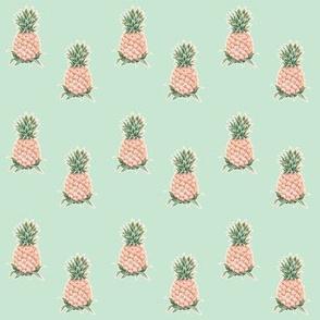 Pineapples on Mint Tea