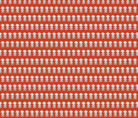 Christmas_elves_red fabric by el_byrne on Spoonflower - custom fabric