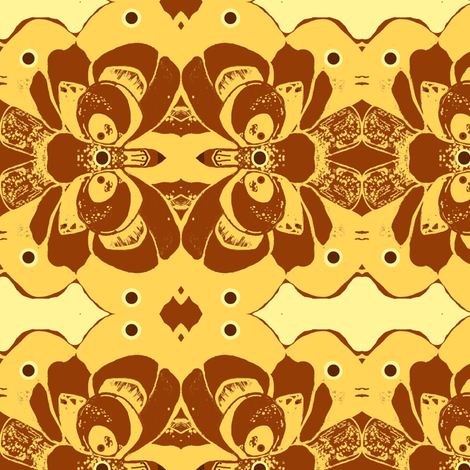 Autumn Rose-ed-ed-ed fabric by kumate on Spoonflower - custom fabric