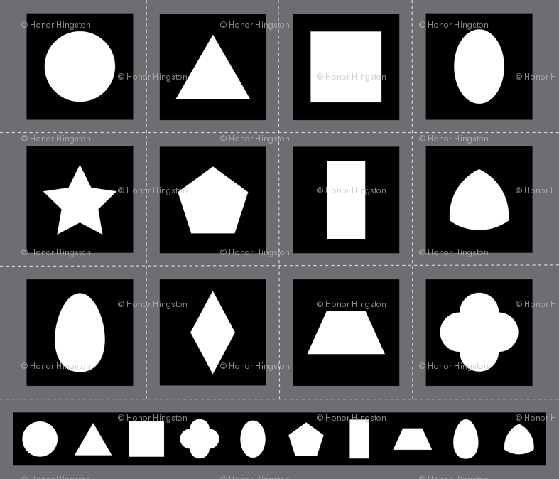 Montessori black white shapes fabric h0n0rb spoonflower