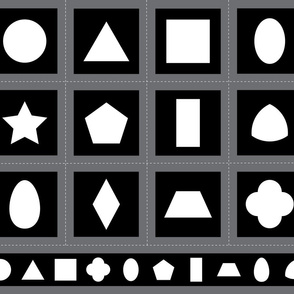 Montessori Black & White Shapes