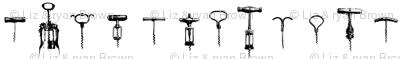 Vertical Wine Corkscrews