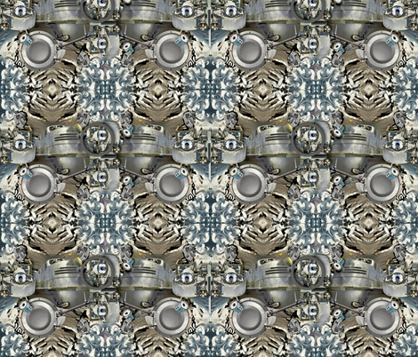 Space Bus fabric by whimzwhirled on Spoonflower - custom fabric