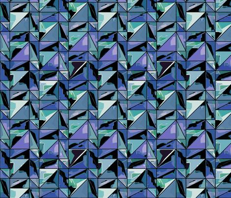 Diffraction - sapphire fabric by ormolu on Spoonflower - custom fabric