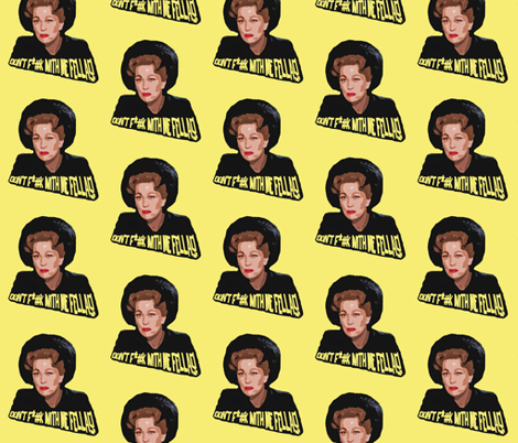 Mommie Dearest - Yellow fabric by hollywood_royalty on Spoonflower - custom fabric