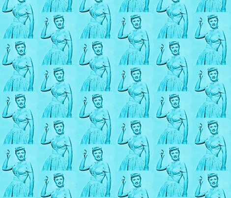 Stanwyck in Blue fabric by hollywood_royalty on Spoonflower - custom fabric