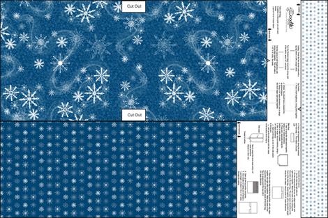 Cut & Sew Snowflakes Gift Bag fabric by mgdoodlestudio on Spoonflower - custom fabric