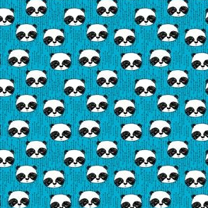 panda // blue mini panda black and white kids nursery cute design
