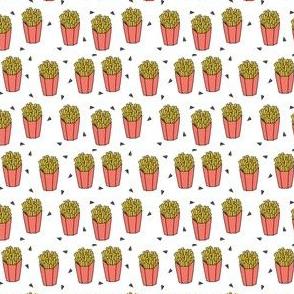 french fries // junk food novelty food print