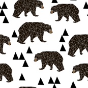 geometric bear // white trendy minimal cool scandinavian kids designs for trendy kids black and white design with triangles