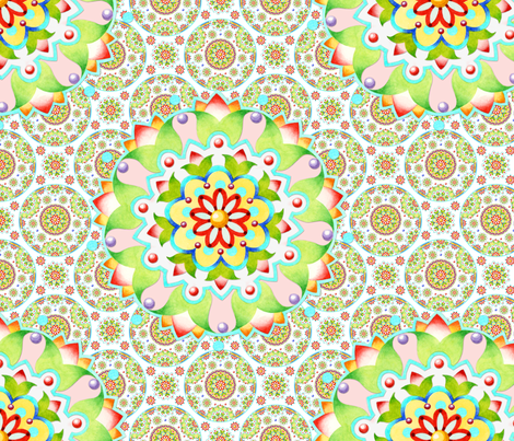 Lotus Mandala fabric by patriciasheadesigns on Spoonflower - custom fabric