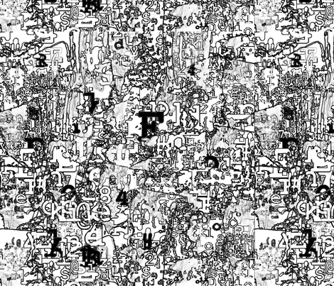 AlphaDreams: Black_and_White_Torn_Papers fabric by higmeister on Spoonflower - custom fabric