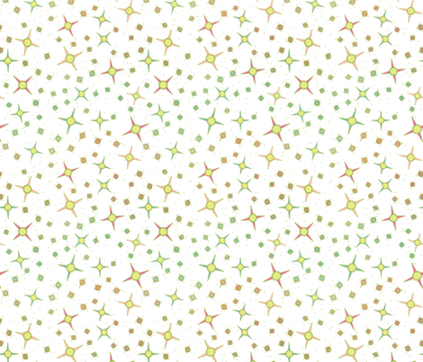 Southwest Stars for Baby White fabric by bloomingwyldeiris on Spoonflower - custom fabric