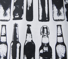 "Vintage Beer Bottles - Large (4"")"