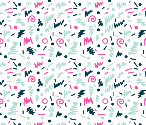 memphis 80s rad shapes edgy kids nursery design fabric by charlottewinter on Spoonflower - custom fabric