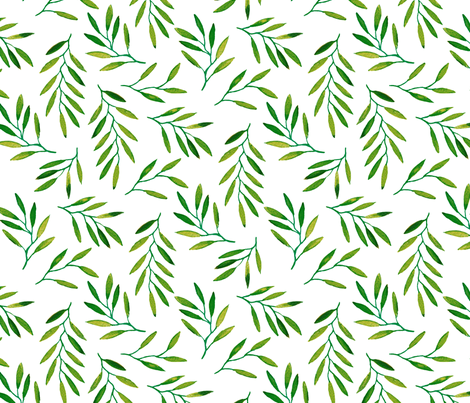 willow - Green 2 fabric by jillbyers on Spoonflower - custom fabric