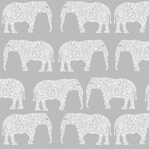 elephant geometric kids grey and white nursery baby soft elephant