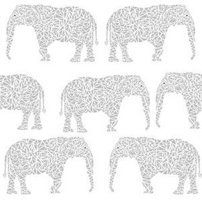 geo elephant grey nursery baby kids baby animals grey and white baby kids nursery