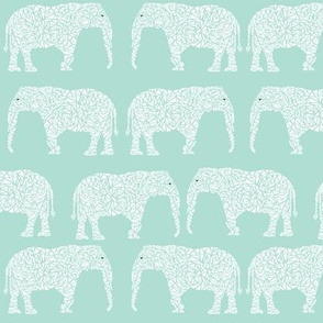 elephant geometric mint nursery baby cute design