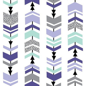 chevron purple mint grey stripes arrows