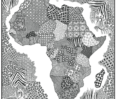 Zen Africa fabric by jenny_healy on Spoonflower - custom fabric
