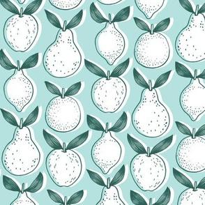 leafy fruits - blue