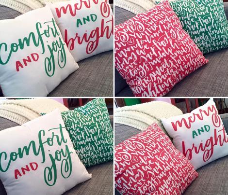 DIY Holiday Throw Pillow Kit
