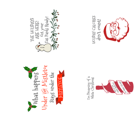Funny Christmas Tea Towels 4 In One Yard Fabric Shopcabin