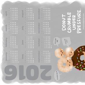 Donut Crumble 2016 Calendar