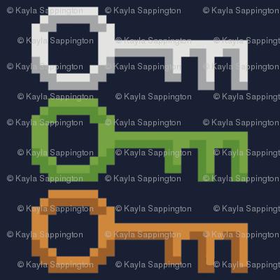 3 Secret Keys Ready Player One Fabric Sappingtonk