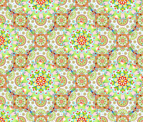 Tapestry Mandala fabric by patriciasheadesigns on Spoonflower - custom fabric
