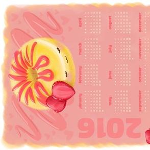 Strawberry Shortcake Donut 2016 Calendar