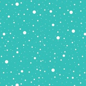 Christmas Holiday Winter Snow Pattern On Glacier Blue