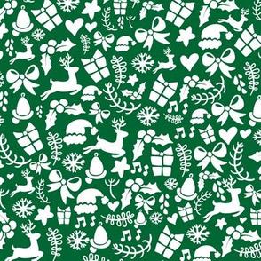 Christmas Holiday Pattnern Green White