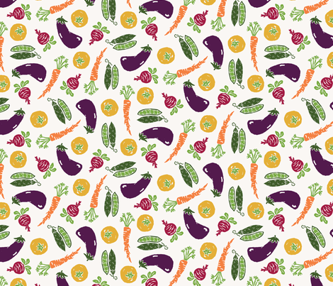 Eat Your Vegetables fabric by twigandweave on Spoonflower - custom fabric