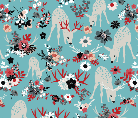 Darling-Deer-5 fabric by vieiragirl on Spoonflower - custom fabric
