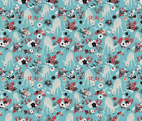 Darling-Deer-5 fabric by vieiragirl on Spoonflower - custom fabric