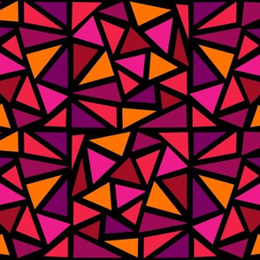 Dean's Stained Glass Triangles in Red Hues
