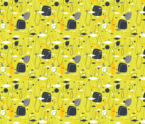 Diamond in the Rough Citron Dream fabric by alchemiedesign on Spoonflower - custom fabric