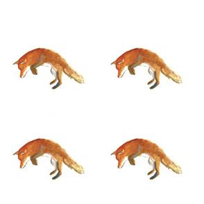 Watercolour Jumping Fox