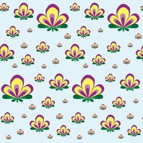 Art Deco Flower Aqua